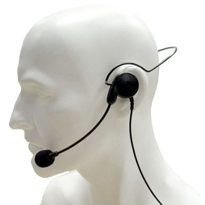 Entel - Lightweight single earpiece headset with in-line PTT and VOX for the HX series