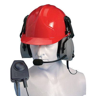Entel - Double ear-cup ear defender (hard hat use only) with VOX