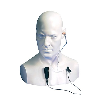 Entel - Acoustic tube earpiece and tie clip microphone for the DT ATEX Series