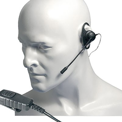 Entel - D-Shaped earpiece with boom microphone for the HX series