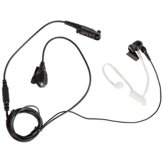 Hytera - 2-Wire Surveillance Earpiece with Transparent Acoustic Tube