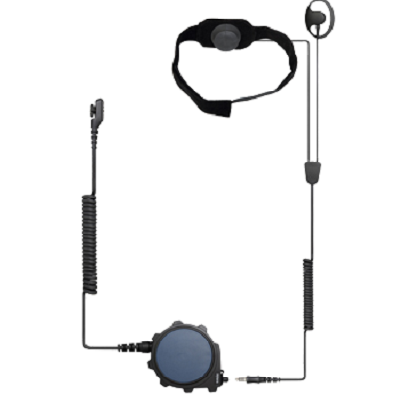 Hytera - ATEX Throat Microphone Headset with Big PTT part
