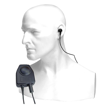 Entel - Bone conductive earpiece microphone for the HX series hand portable radio.