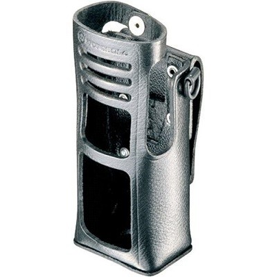 Motorola - Leather Carry Case with Belt Loop for Keypad Models(for radios with NiMH, NiCD and FM battery)