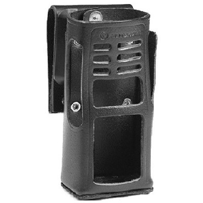 Motorola - Leather Carry Case with Swivel Belt Loop for Keypad Models(for radios with NiMH and NiCD battery)