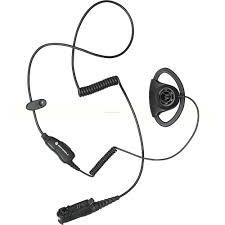 Motorola - Adjustable D Style Earpiece with Inline Mic/PTT