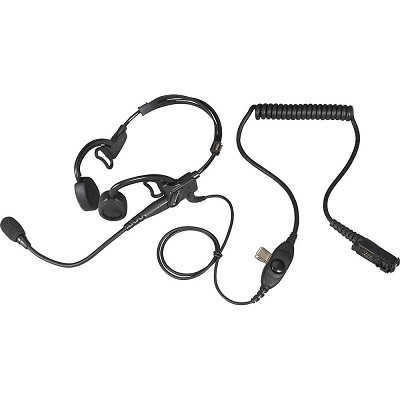 Motorola - IMPRES Temple Transducer with PTT and Noise Cancelling Microphone