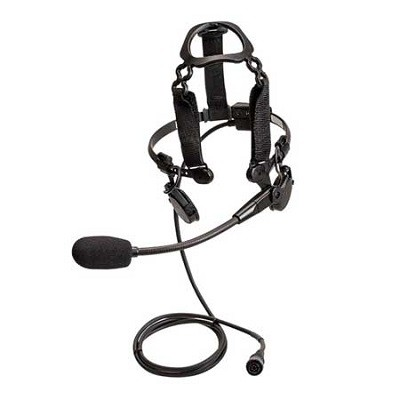 Motorola - Tactical Temple Transducer with Boom Microphone