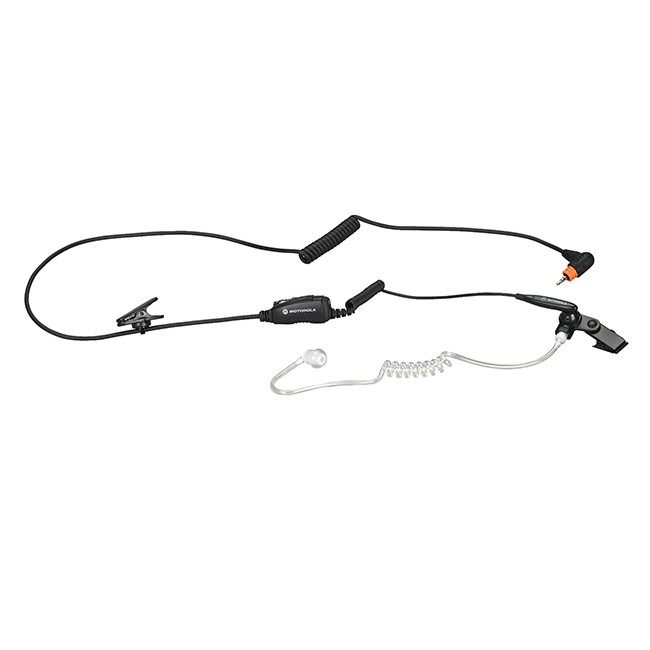 Motorola - Surveillance earpiece with Mic and PTT Combined (Black)