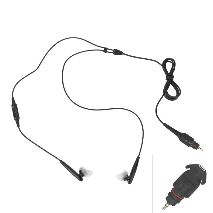 Motorola - Wireless Overt Audio Kit for Fast PTT (Black)