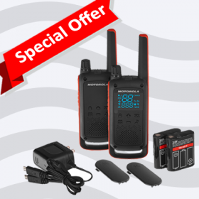 Motorola TALKABOUT T82 Walkie Talkies - Twin Pack