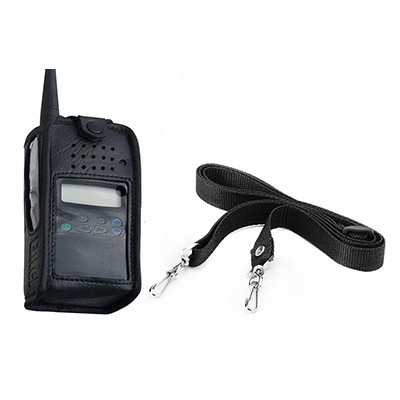 Entel - Soft leather case with carry strap for the HX series