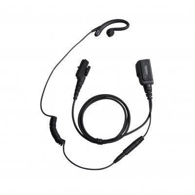 Hytera - C Style Earloop Earpiece with PTT & MIC Cable