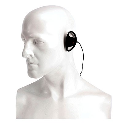 Entel - D shaped covert style earpiece for the HX series hand portable radio.
