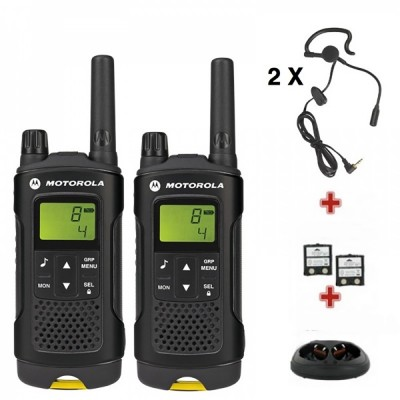 Motorola  XT180 UK 2 Way Radios Walkie Talkies (Twin Pack) Complete with 2 Earpieces